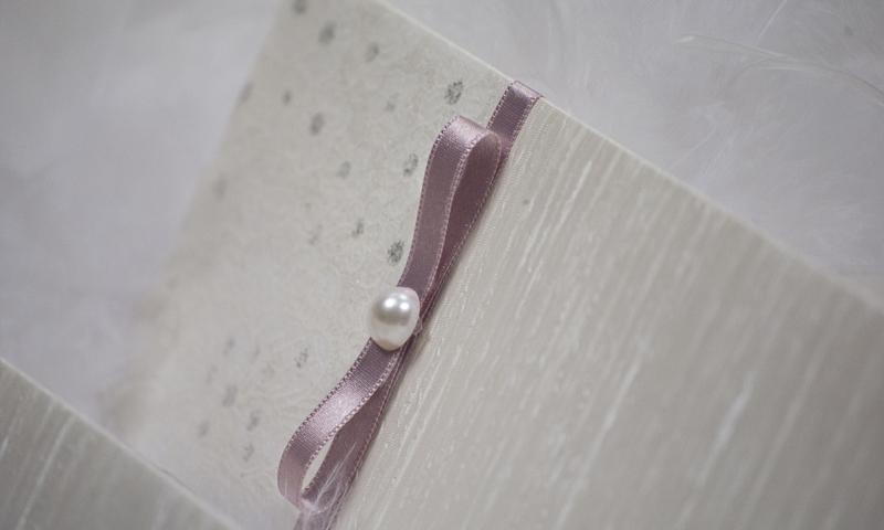 Invitaciones de boda en papel de seda.