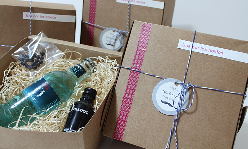 Detalles para regalar en la boda. Kit de Gin tonic.