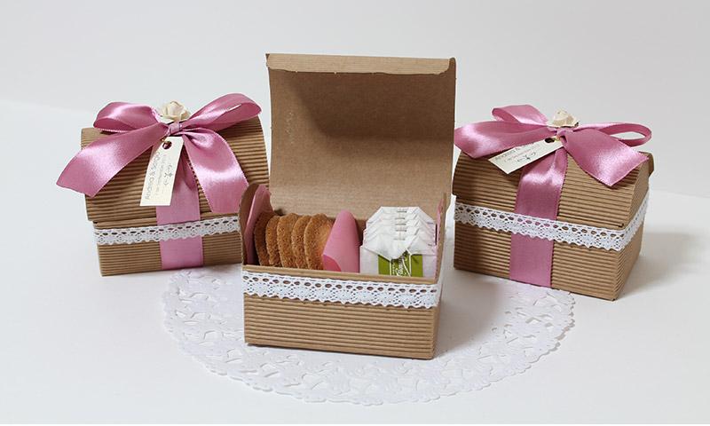Detalles para regalar en la boda. Infusiones + pastitas.